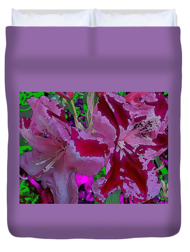 Abstract Duvet Cover featuring the digital art Rhody Gone Wild by Tim Allen