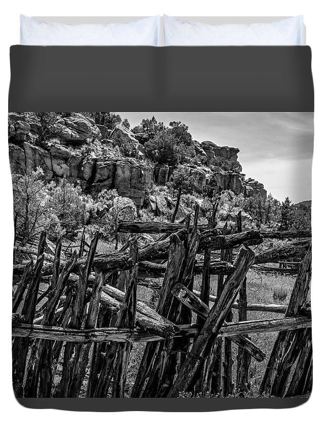 Ranch Duvet Cover featuring the photograph Rial Chew Ranch 3 by Ron Latimer