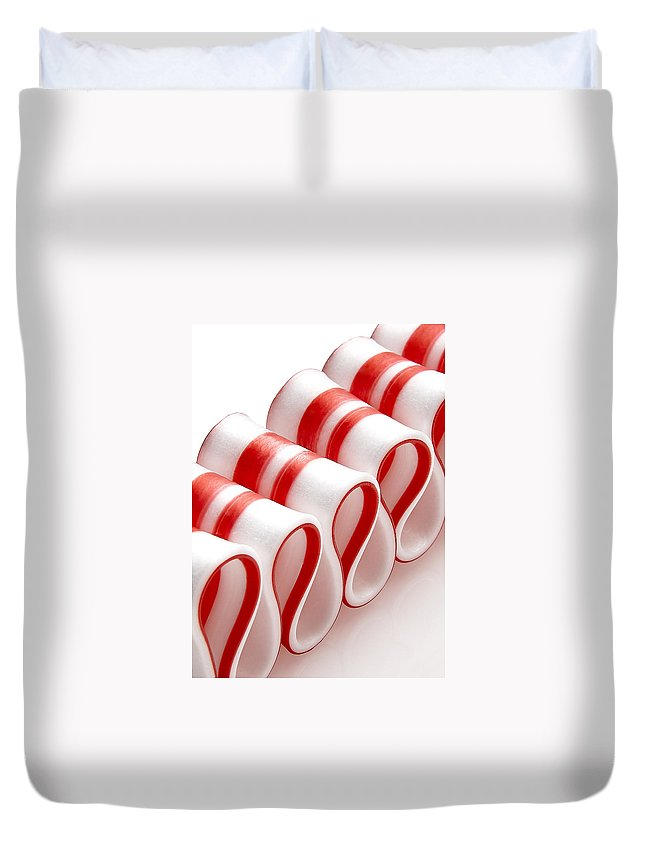 Ribbon Candy Duvet Cover featuring the photograph Ribbon Candy by Daniel Troy