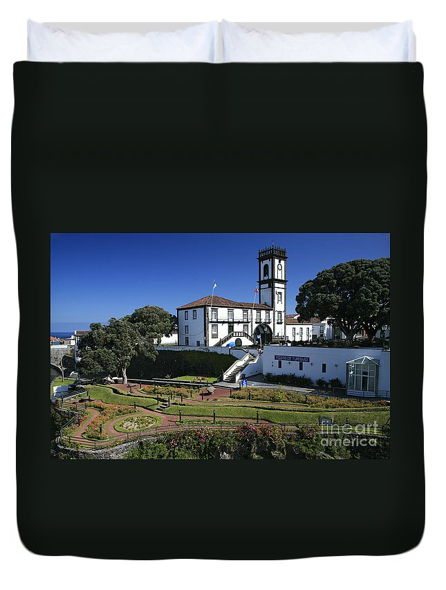 Facade Duvet Cover featuring the photograph Ribeira Grande Azores by Gaspar Avila