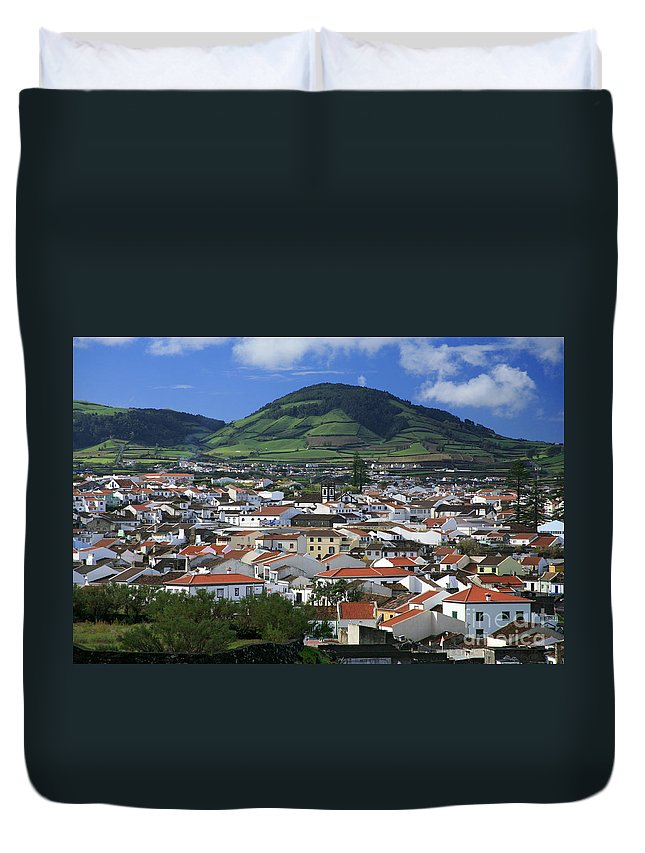 Azores Duvet Cover featuring the photograph Ribeira Grande by Gaspar Avila