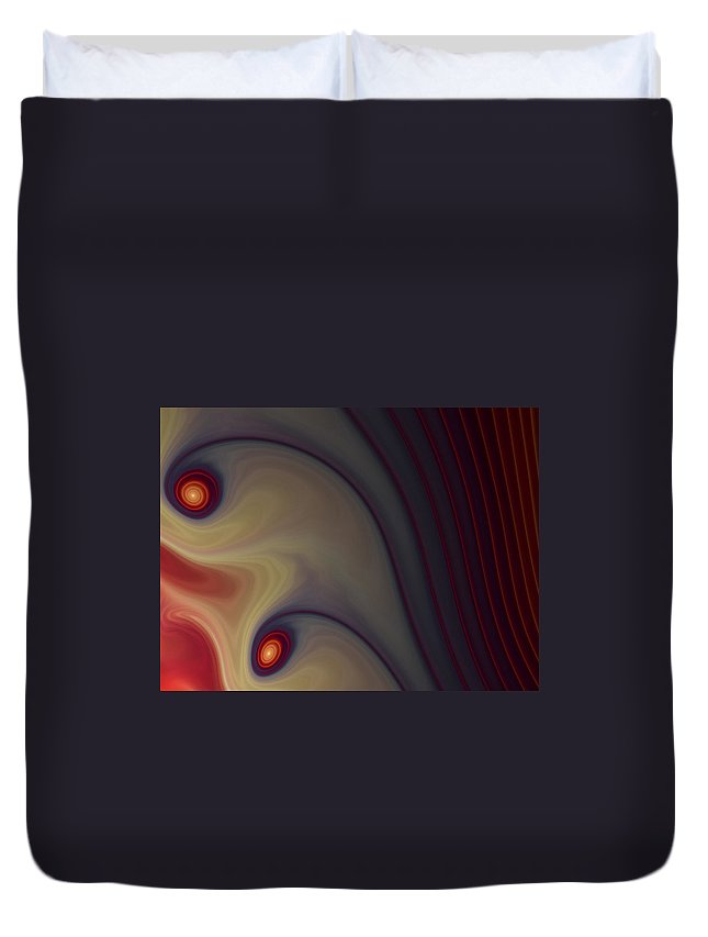 Apophysis Duvet Cover featuring the digital art Rich In Color by Amorina Ashton
