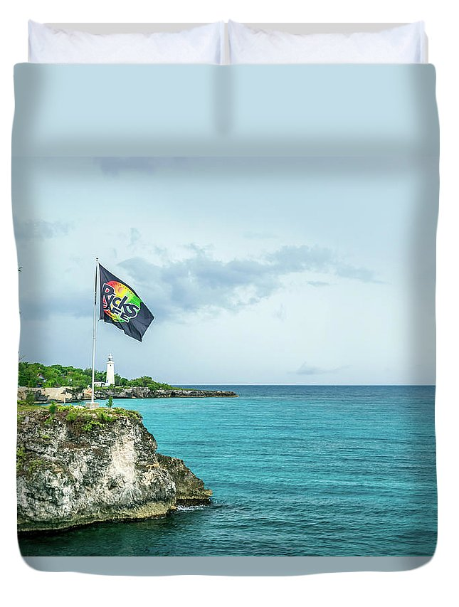Ricks Cafe Duvet Cover featuring the photograph Rick's Cafe by Debbie Ann Powell
