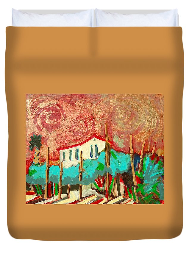 Tuscany Duvet Cover featuring the painting Ricordare by Kurt Hausmann