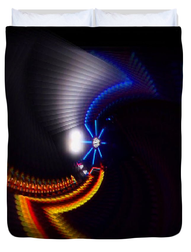 Chaos Duvet Cover featuring the photograph Ride by Charles Stuart