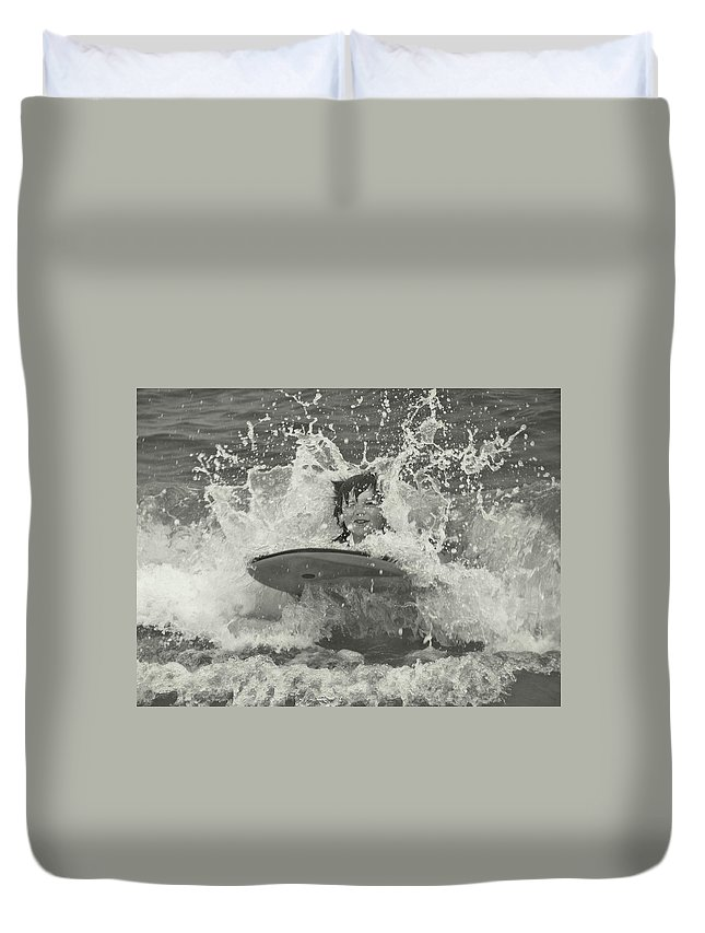Beach Duvet Cover featuring the photograph Ride The Wave by JAMART Photography