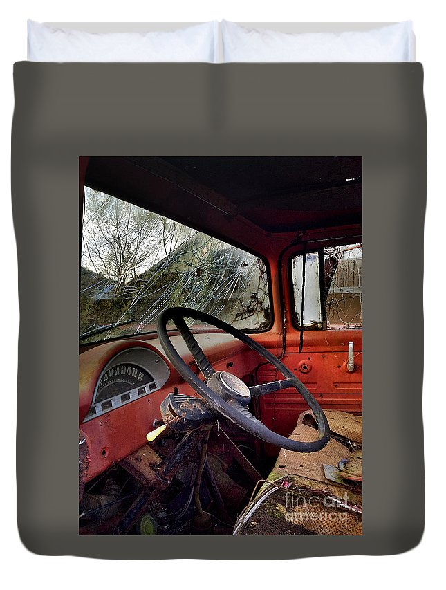 Vintage Truck Duvet Cover featuring the photograph Ride With Me by Bernd Billmayer