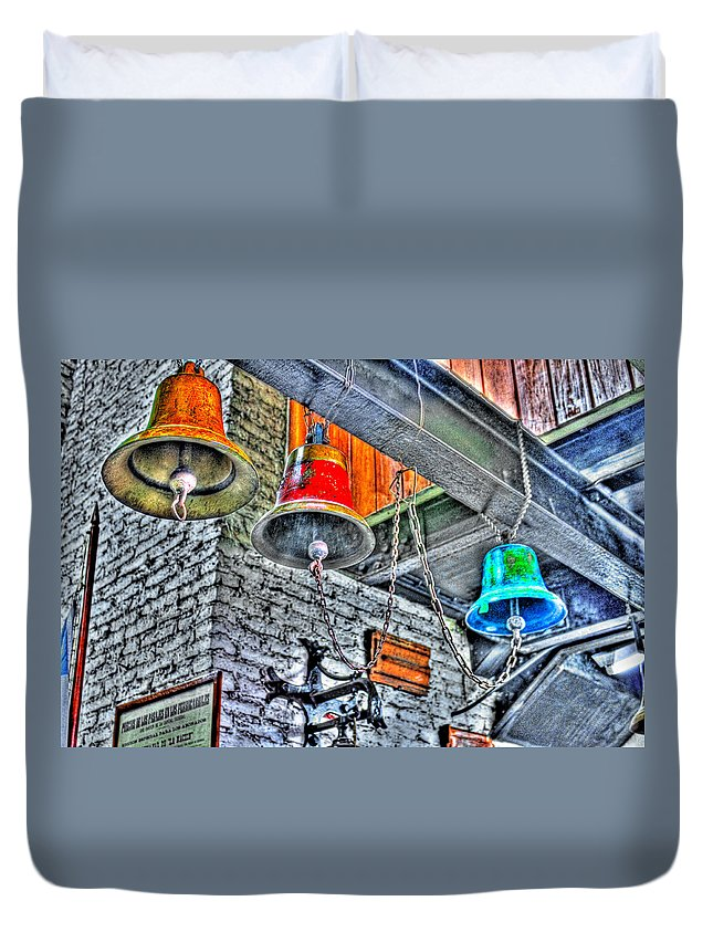 Bells Duvet Cover featuring the photograph Ringing Bells by Francisco Colon