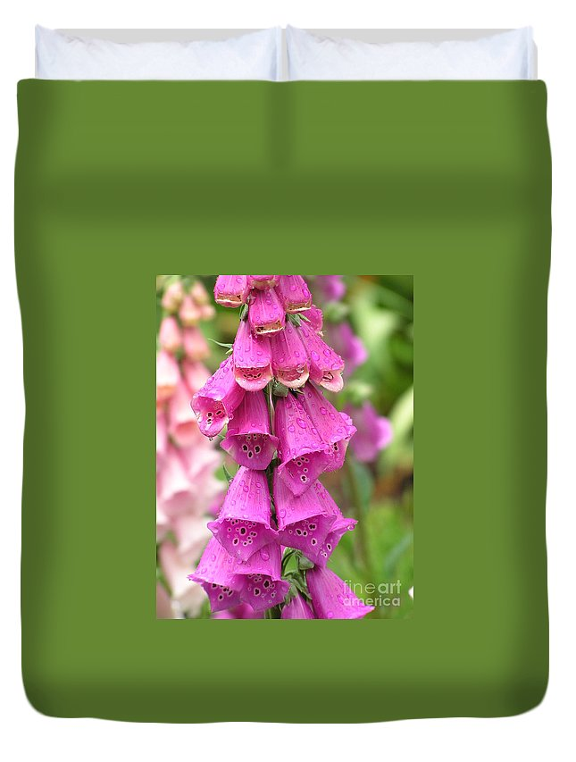 Fox Glove Duvet Cover featuring the photograph Ringing Bells by Louise Magno