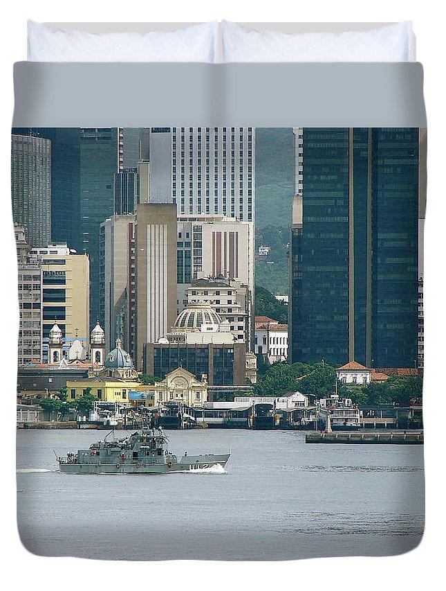 Rio De Janeiro Duvet Cover featuring the photograph Rio De Janeiro V by Brett Winn