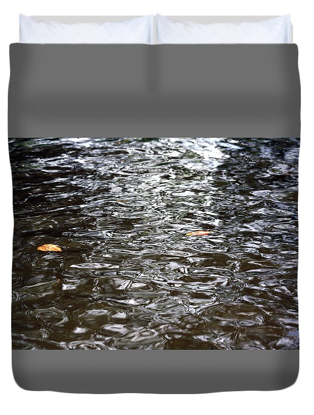 Water Duvet Cover featuring the photograph Rippled Reflection by Frances McCullough
