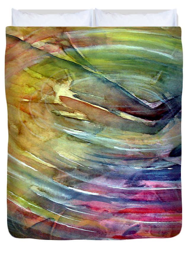 Ripples Duvet Cover featuring the painting Ripples by Allison Ashton