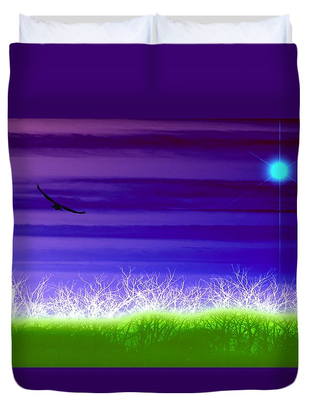 Landscape Duvet Cover featuring the photograph Rise Above by Holly Kempe