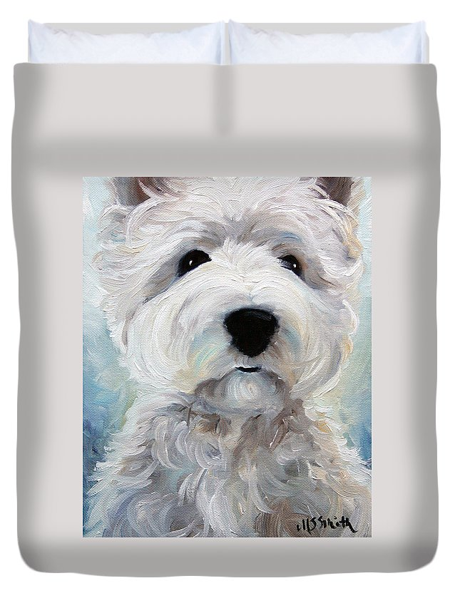Art Duvet Cover featuring the painting Rise And Shine by Mary Sparrow