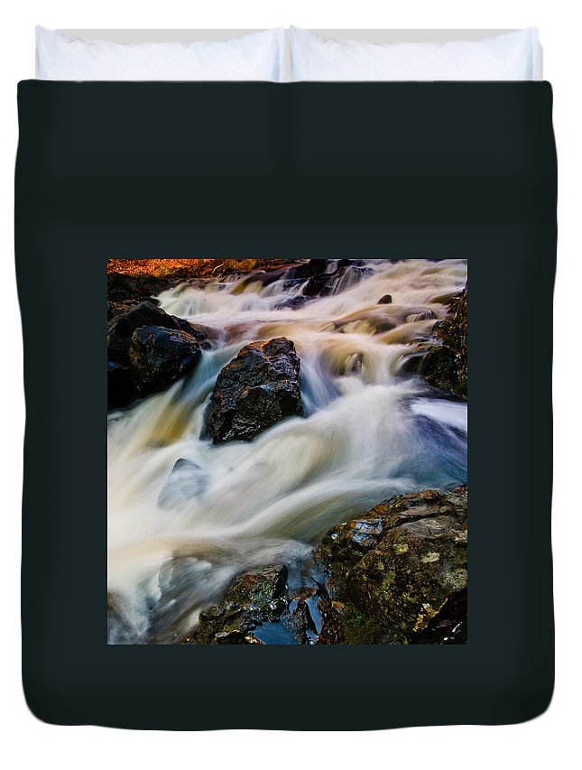 Troy Duvet Cover featuring the photograph River Dance by Neil Shapiro