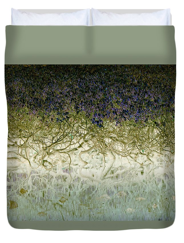 Landscapes Duvet Cover featuring the photograph River Of Life by Holly Kempe