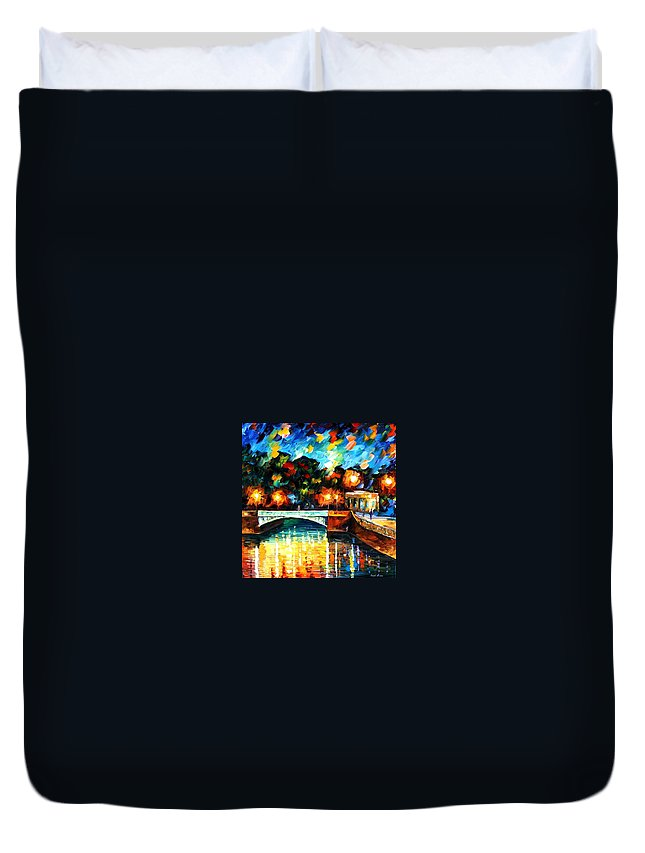 Afremov Duvet Cover featuring the painting River Of Love by Leonid Afremov