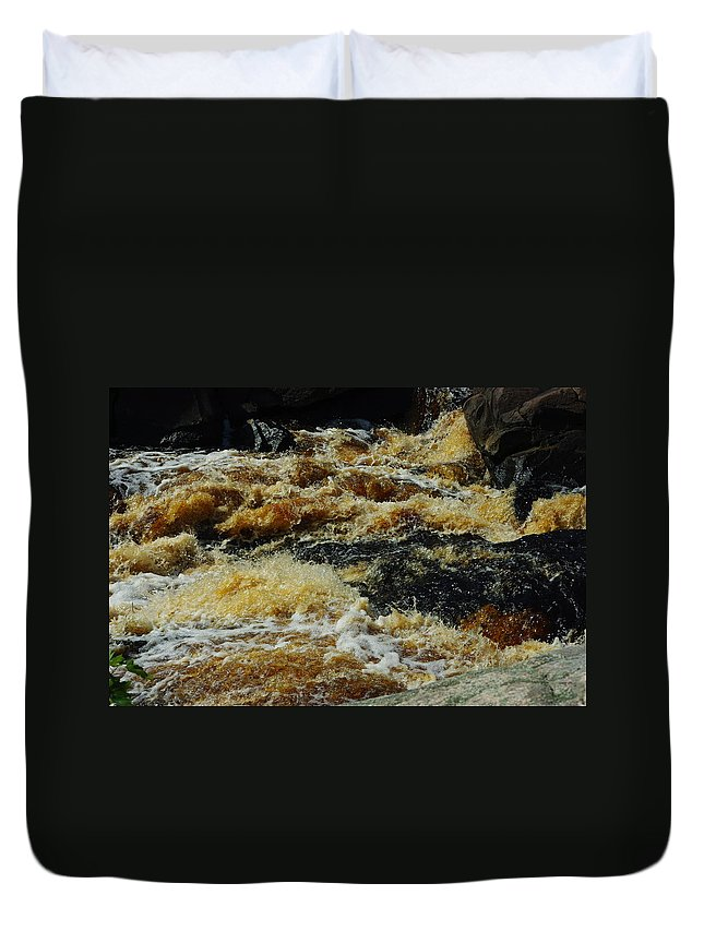 Rocks Duvet Cover featuring the photograph River On The Rocks IIi by Alice Markham