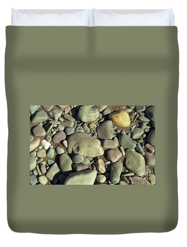River Rock Duvet Cover featuring the photograph River Rock by Richard Rizzo