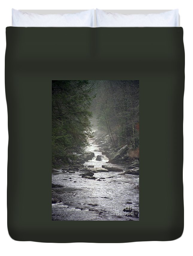 River Duvet Cover featuring the photograph River Run by Richard Rizzo