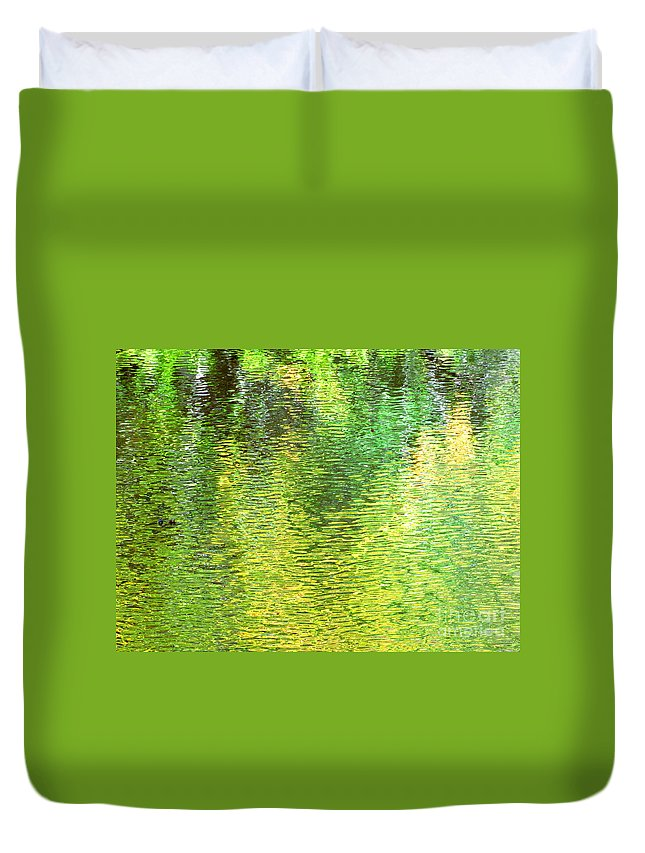 Water Duvet Cover featuring the photograph River Sanctuary by Sybil Staples