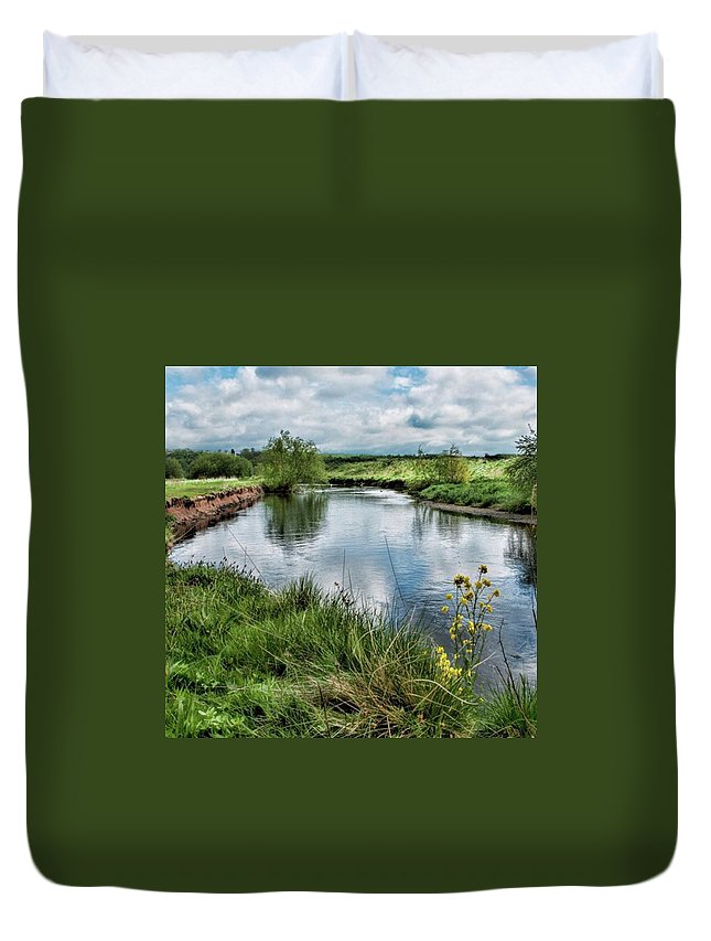 Nature_perfection Duvet Cover featuring the photograph River Tame, Rspb Middleton, North by John Edwards
