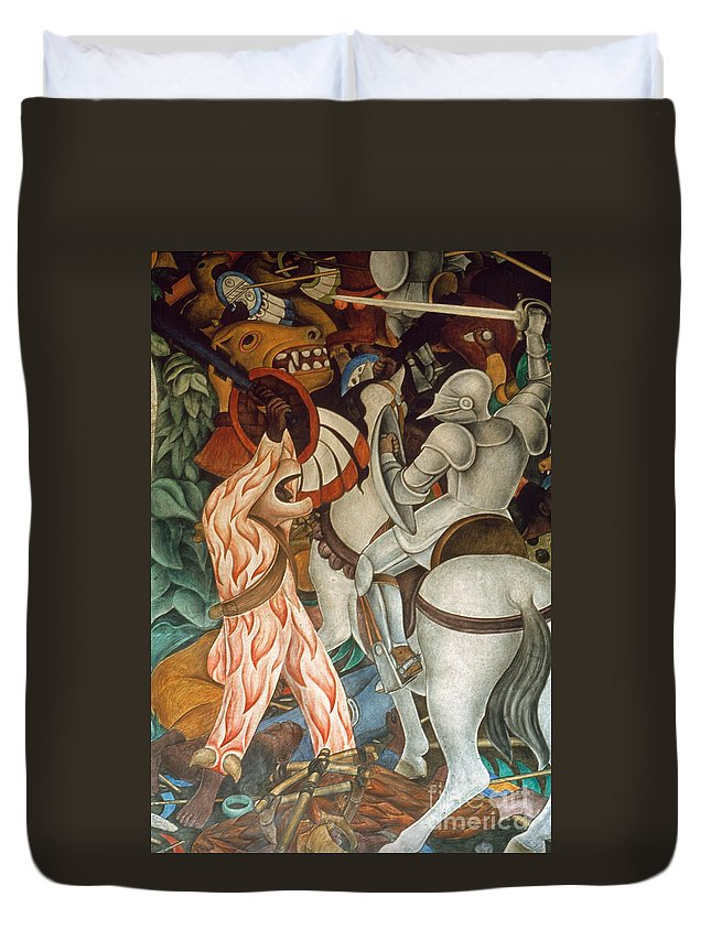 16th Century Duvet Cover featuring the photograph Rivera: Cuernavaca by Granger