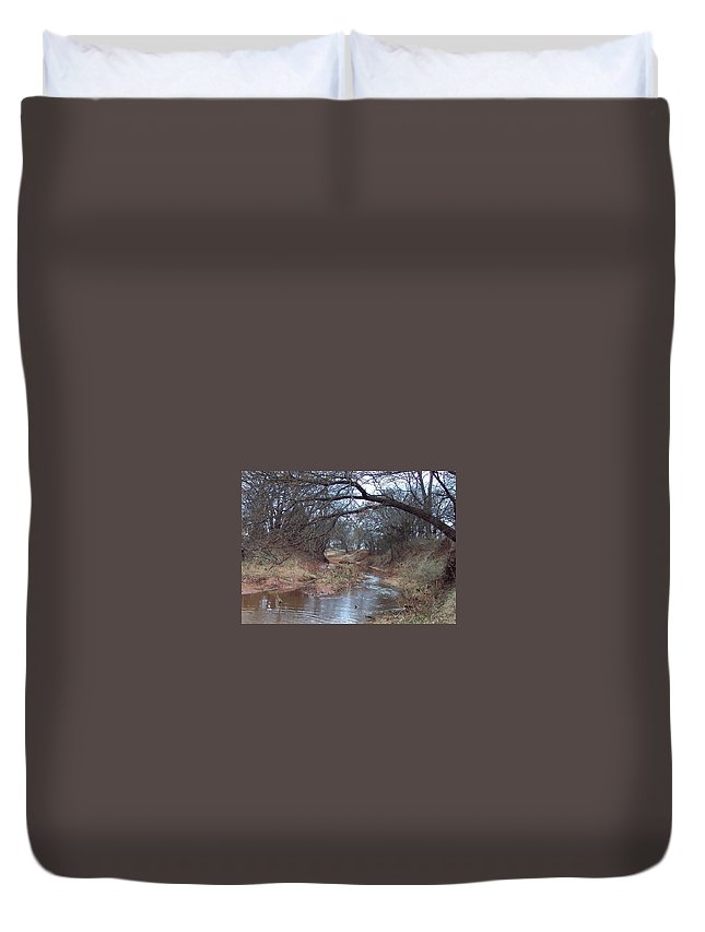 Landscapes Duvet Cover featuring the photograph Rivers Bend by Shari Chavira
