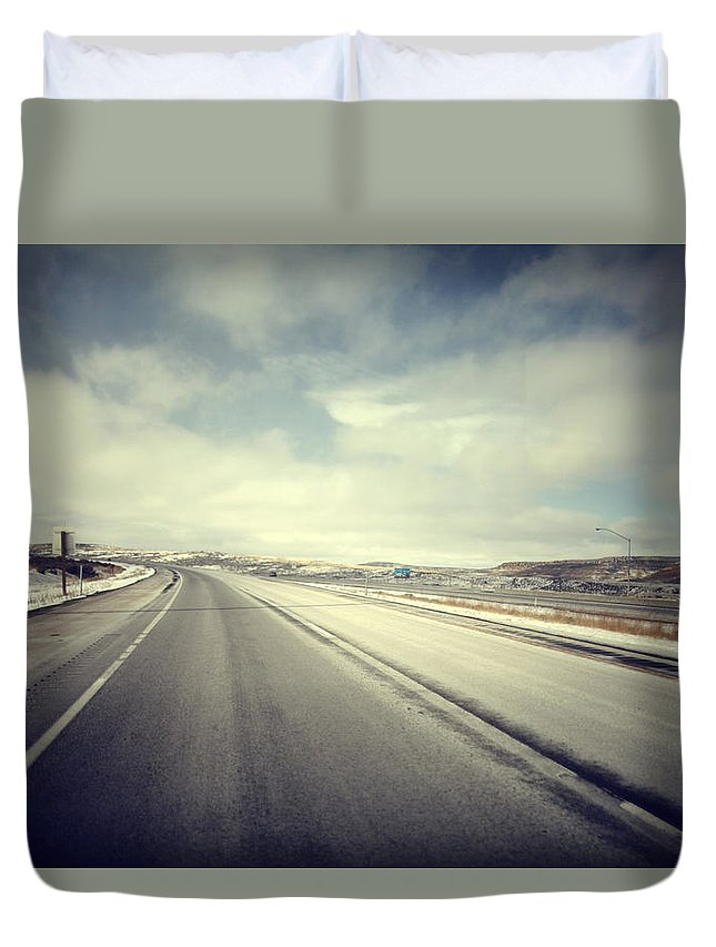Duvet Cover featuring the photograph Road by Borko Turudic