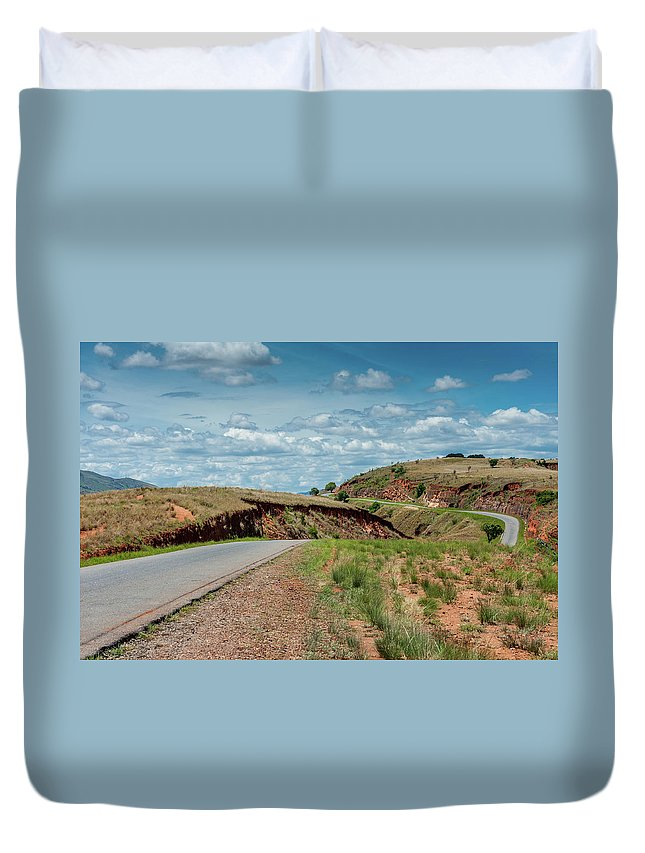 Africa Duvet Cover featuring the photograph Road To Antananarivo by Michael Jacobs