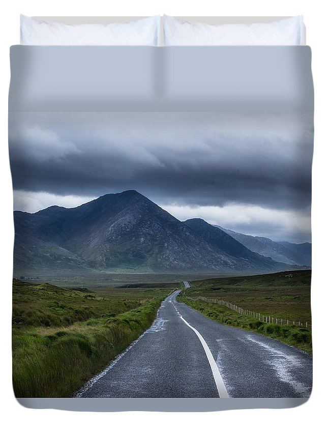 Landscape Duvet Cover featuring the photograph Road To Nowhere by Eoin Tully