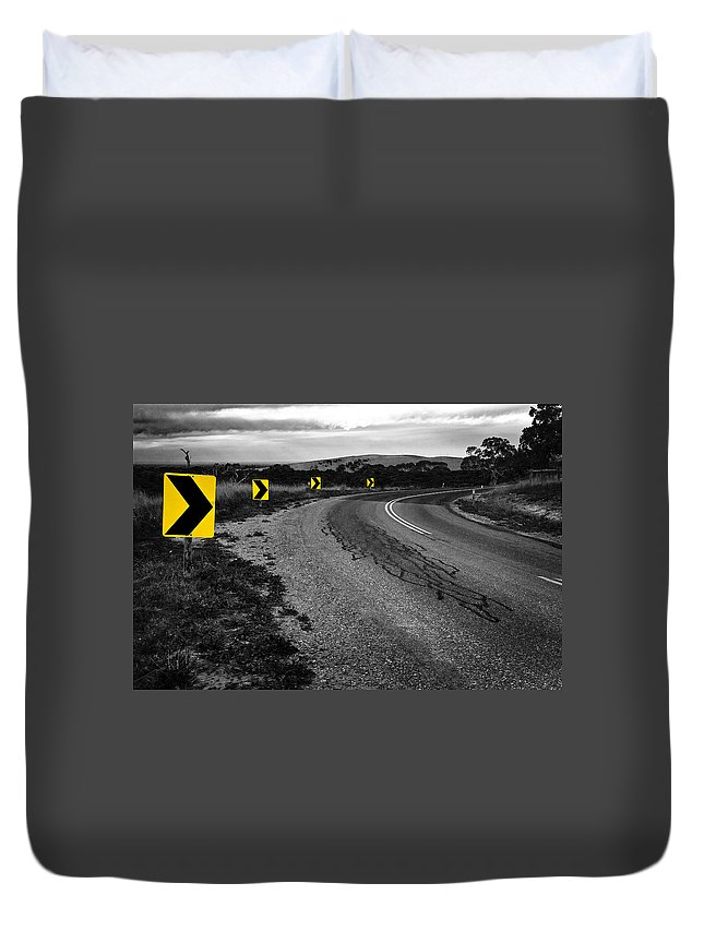 Road Duvet Cover featuring the photograph Road to Nowhere by Kelly King