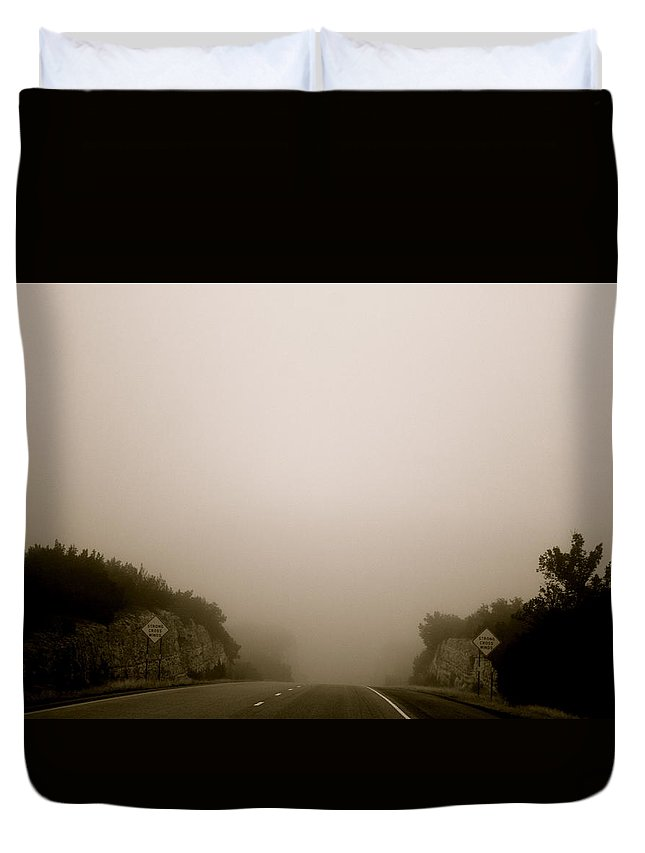 Landscape Duvet Cover featuring the photograph Roadtrip 13 by Meagan Paxton