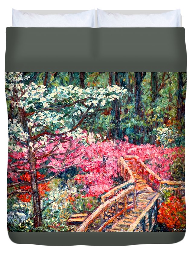 Garden Duvet Cover featuring the painting Roanoke Beauty by Kendall Kessler