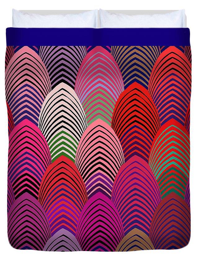Roaring 20's Decor Duvet Cover featuring the digital art Roaring 20's Crazy Jazz by Vagabond Folk Art - Virginia Vivier