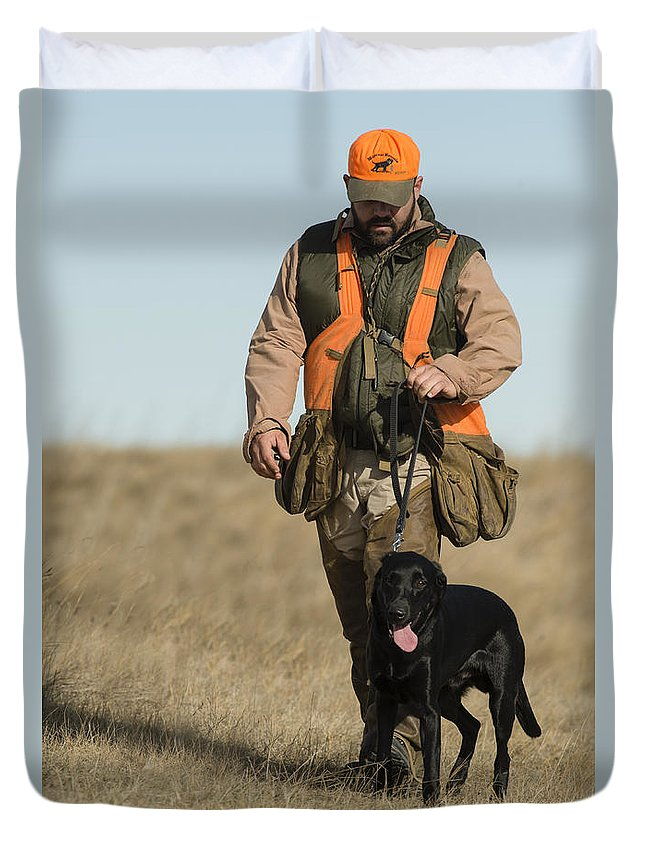 Duvet Cover featuring the photograph rob by Chip Laughton