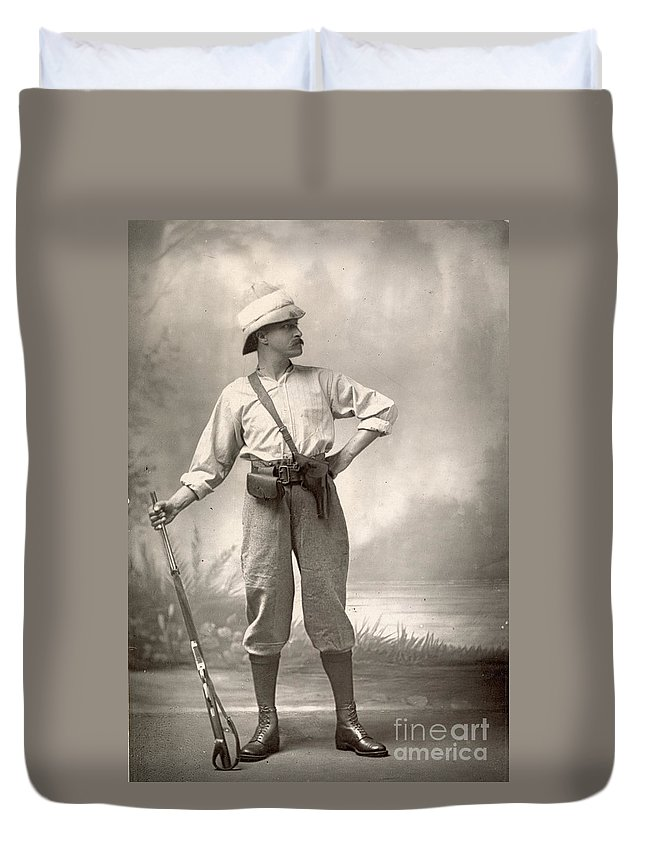 1880 Duvet Cover featuring the painting Robert Henry Nelson by Granger