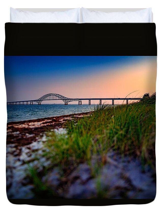 Robert Moses Causeway Duvet Cover featuring the photograph Robert Moses Causeway by Rick Berk
