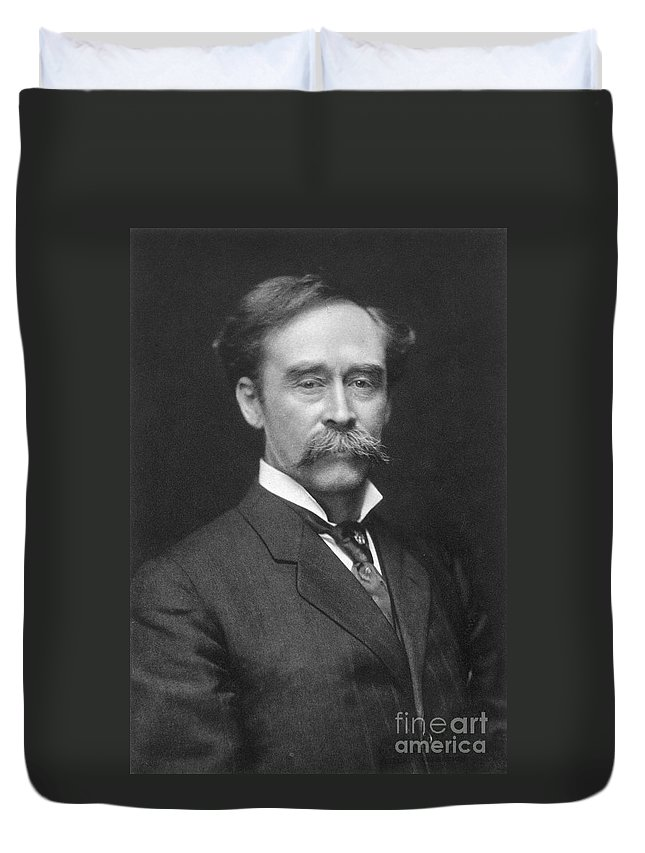 1910s Duvet Cover featuring the painting Robert Peary (1856-1920) by Granger