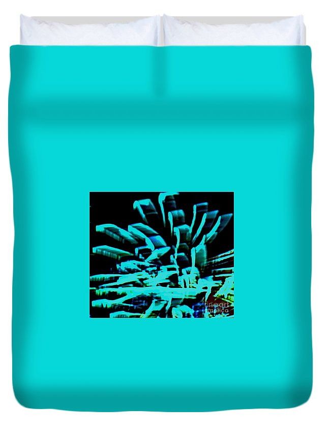 Photo Duvet Cover featuring the digital art Robotical Abstract by Marsha Heiken