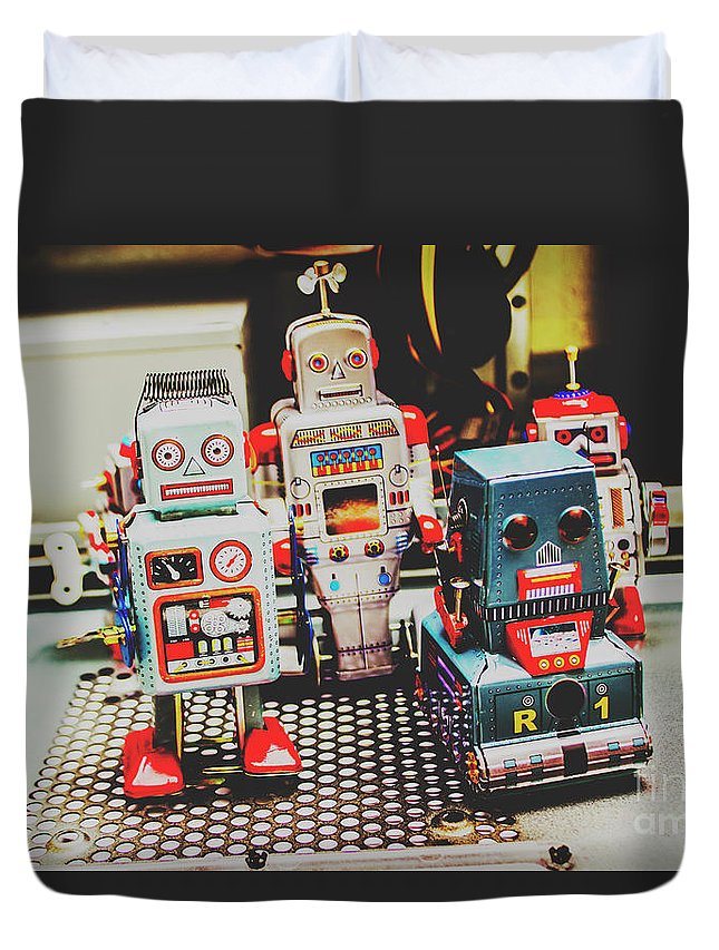 Robotic Duvet Cover featuring the photograph Robots Of Retro Cool by Jorgo Photography - Wall Art Gallery