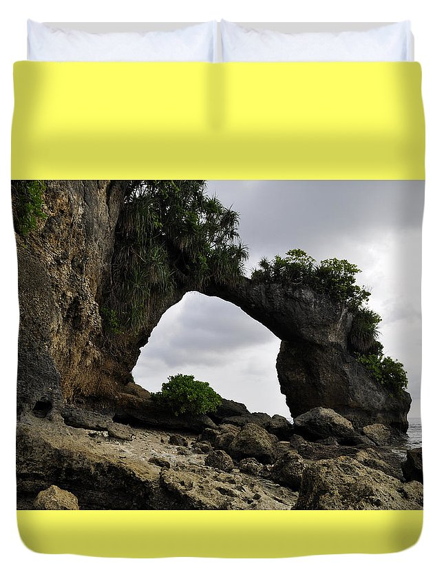 Neil Island Duvet Cover featuring the photograph Rock Bridge At Neil Island by Bliss Of Art