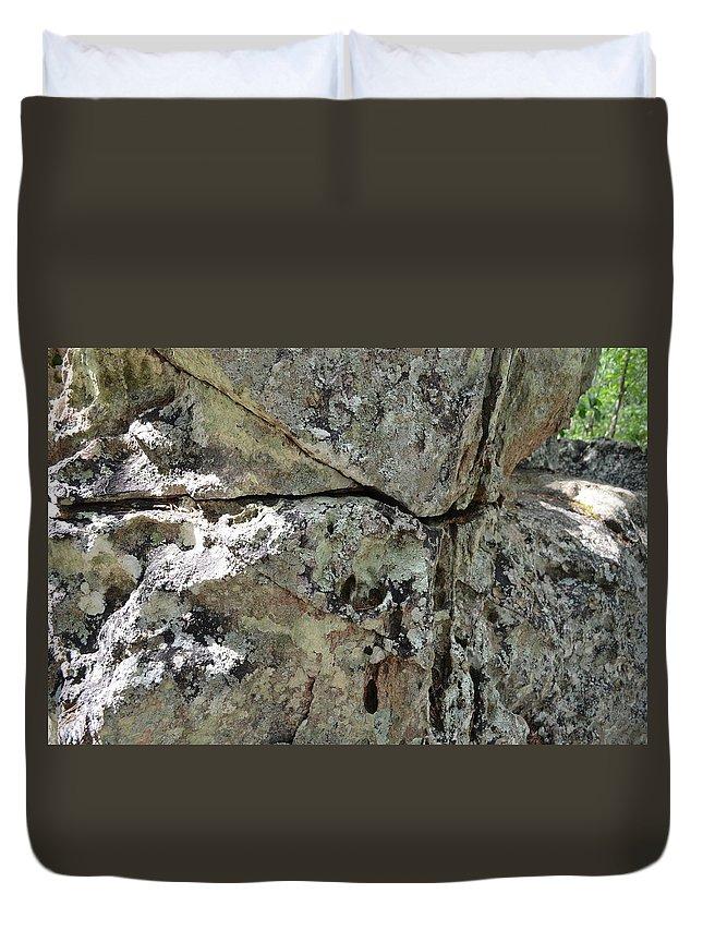 Landscape Duvet Cover featuring the photograph Rock by Natalia Kazana
