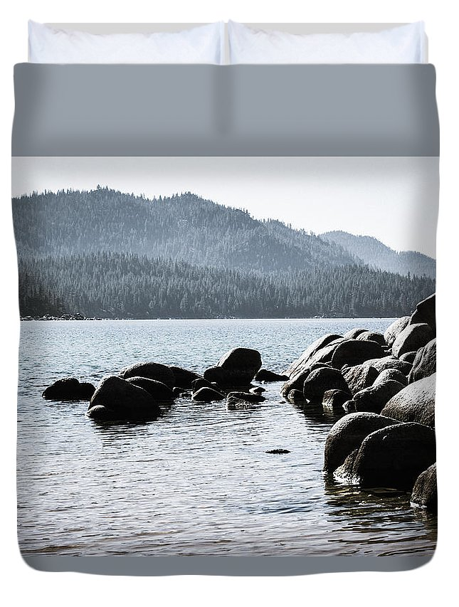 Landscape Duvet Cover featuring the photograph Rockness Monster by Jamie Brewer