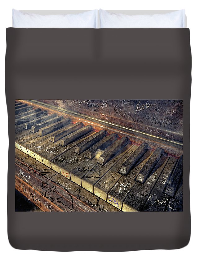 Rock Duvet Cover featuring the photograph Rock Piano Fantasy by Mal Bray
