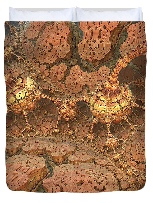 Michelle H Duvet Cover featuring the digital art Rock Walkers by Michelle H