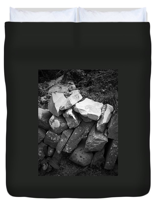 Irish Duvet Cover featuring the photograph Rock Wall Doolin Ireland by Teresa Mucha