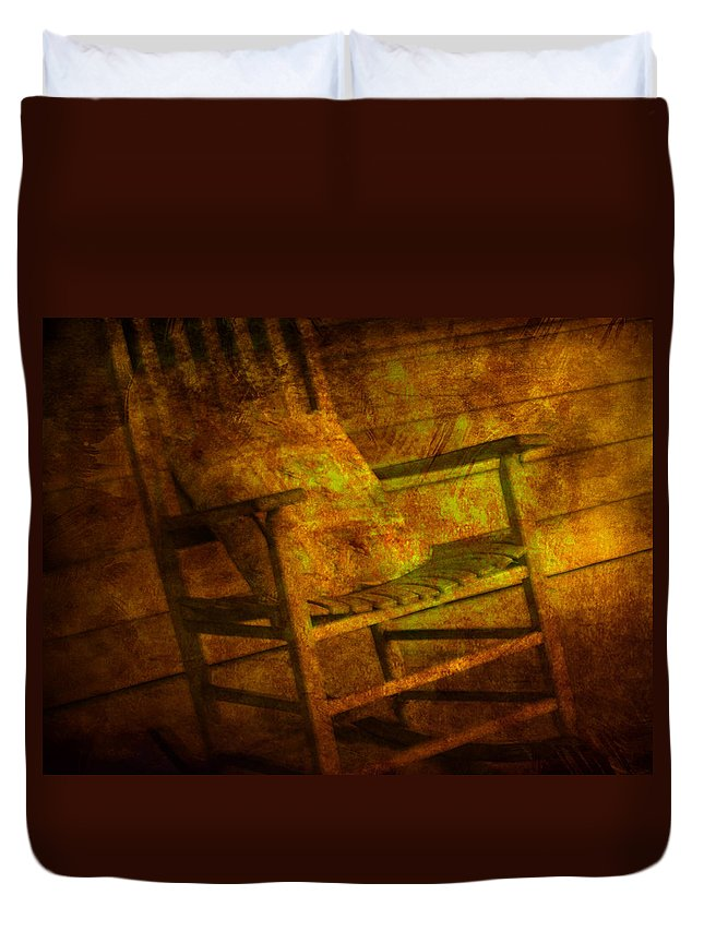 Rocking Chair Duvet Cover featuring the photograph Rock Without The Roll by Susanne Van Hulst
