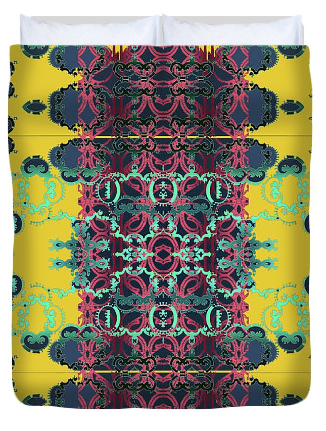 Yellow Duvet Cover featuring the digital art Rocket 1 by Ceil Diskin