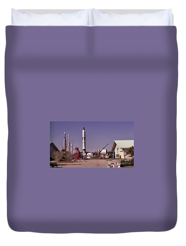 Rocket Duvet Cover featuring the photograph Rocket Garden by Richard Rizzo